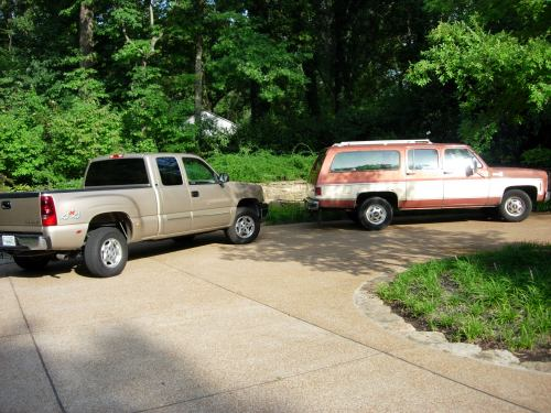 that's my old truck on the right