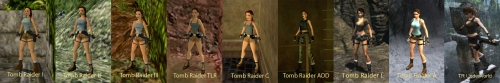 Click to see the full-sized Lara Croft evolution